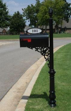aluminum mailbox post. Chareston Estate Mailbox (slightly Larger Than The Regular Charleston) Buy Online At: Www.addressesofdistinction.com | Yeah, We Make Mailboxes. Aluminum Post 2