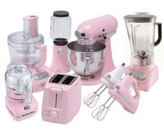 There is no better way to brighten up your kitchen and have guests take notice than decorating your kitchen with pink appliances. Here are tons of pink kitchen appliances to choose from such as pink toasters, blenders, mixers, coffee makers and more! Pink Kitchen Appliances, Kitchen Appliance Storage, Kitchen Gadgets, Cooking Gadgets, Cooking Tools, Kitchen Tools, Cooking Appliances, Kitchen Utensils, Kitchen Cabinets