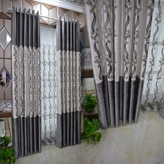Balcony Curtains, Long Curtains, Window Curtains, Curtains Living, Unique Curtains, Luxury Curtains, Beautiful Curtains, Arched Window Treatments, Arched Windows