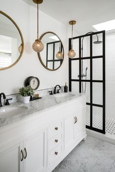 When a tub isn't an option—or drawing a bath is simply too much to manage—a well-appointed walk-in shower should do just the trick. While practical for our daily lives, there's no reason they can't also be relaxing and luxurious—even zen-inducing.  From pattern-punched tile to captivating marble, read on for 25+ inspiring, varied bathroom designs that feature an enviable walk-in shower.  #walkinshower #showerideas #luxuryshower #modernshower #marbleshower #tileshower #showertile #elledecor