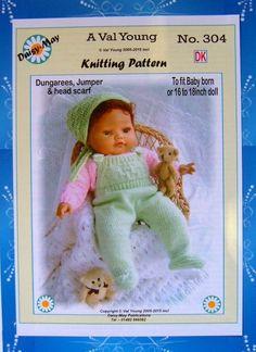 1 of 1: DOLLS KNITTING PATTERN 4 BABYBORN BY DAISY-MAY No 304