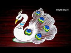 latest peacock rangoli designs with dots, beautiful kolam designs, creative peacock muggulu Rangoli Designs Peacock, Simple Rangoli Designs Images, Rangoli Patterns, Colorful Rangoli Designs, Rangoli Ideas, Rangoli Designs Diwali, Beautiful Rangoli Designs, Easy Rangoli, Free Hand Rangoli Design