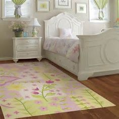 Floral Area Rug Is Perfect For A Little Girl 39 S Room Or A Nursery