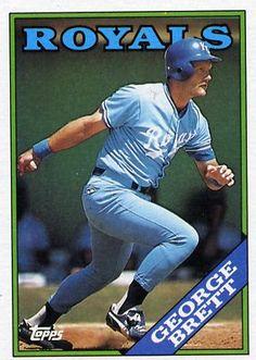 1988 Topps Baseball Card of George Brett