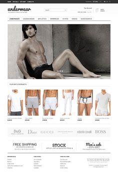 Underwear Man PrestaShop Themes by Hermes