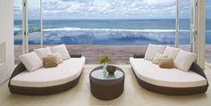 Sofas de Diseño para exterior DEREK. Decoracion Beltran, tu tienda online en mobiliario de terraza y jardin. Acceso catalogo de muebles rattan : www.decoracionexterior.com