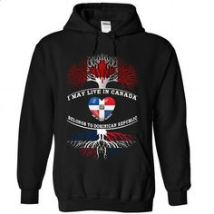 CANADA And Dominican Republic - #rock tee #long sweater. PURCHASE NOW => https://www.sunfrog.com/Christmas/CANADA-And-Dominican-Republic-5458-Black-Hoodie.html?68278