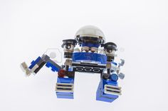 Phuket Thailand August 17 2016 Lego Mixels named Kuffs isolated on white background assembled by Kin Stock Photo