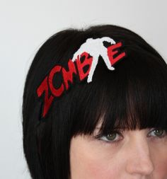 Janine Basil: Zombie Headband, Red & White, Living Dead