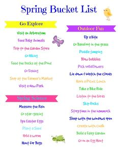 A 'Celebrate Spring' Bucket List from Edventures with Kids