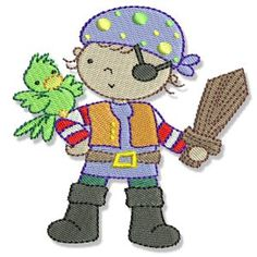 Embroidery   Free Machine Embroidery Designs   Bunnycup Embroidery   Pirates Ahoy
