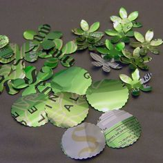 Aluminum Flowers and Circles for Mixed Media, Altered Art, Jewelry, Steampunk$2.99