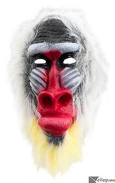 Madagascar Baboon Mask Chimp Monkey Latex Mask Halloween Animal Dress Party Prop