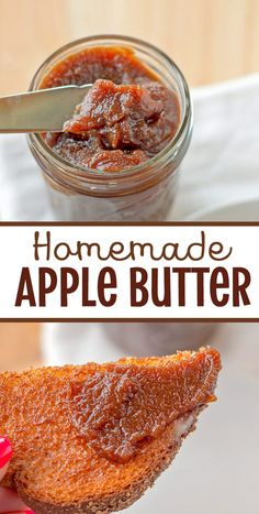 French Delicacies Essentials - Some Uncomplicated Strategies For Newbies Apple Butter Recipe: Homemade Apple Butter Is Easy To Make In The Slow Cooker With This Super Simple Shortcut Method Jam Recipes, Canning Recipes, Dessert Recipes, Desserts, Drink Recipes, Jelly Recipes, Fruit Recipes, Kitchen Recipes, Cooker Recipes