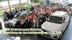 BMW Niederlassung München: Begrüßung der Auszubildenden am 01.09.2015