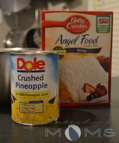 LOVE recipes with 5 ingredients or less  this is technically 4, but I would do just the 2 for the cake: Weight Watchers Pineapple Angel Food Cake Recipe  4 pts per serving (12 servings as prepared)