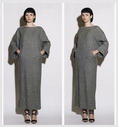 KARL LAGERFELD 1980s Avant Garde Grey Slouochy Sweater Maxi Dress  #karllagerfeld #chanel #avantgarde #vintagedress #vintage