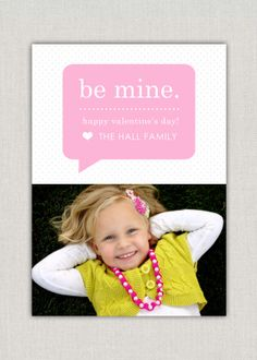 Speech Bubble Valentine's Day Photo Card- CUTE!!