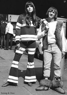 Sonny + Cher.  They really couldn't sing but their show was really good.  I was sad when they got a divorce.