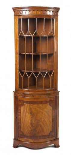 A George III Style Mahogany Corner Cabinet. 10/14, 12pm