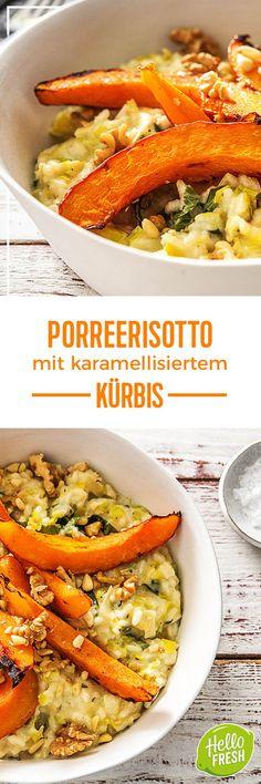 Step by Step Rezept: Porreerisotto mit karamellisiertem Kürbis frischem Salbei und Walnüssen  Kochen / Rezept / DIY / HelloFresh / Küche / Lecker / Gesund / Einfach / Kochbox / Ernährung / Zutaten / Lebensmittel / 30 Minuten / Nüsse / Nuss / Veggie / Vegetarisch / Risotto / Reis / Italienisch / Glutenfrei   #hellofreshde #blog #kochen #küche #gesund #lecker #rezept #diy #gesund #einfach #kochbox #ernährung #lebensmittel #zutaten #kürbis #risotto #reis #italienisch #walnuss #glutenfrei
