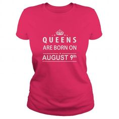 Awesome Tee Born August 9 Queen Shirts TShirt Hoodie Shirt VNeck Shirt Sweat Shirt for womens and Men Shirts & Tees