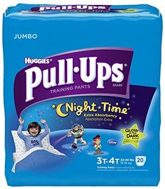 Huggies Pull-Ups Training Pants – Nighttime – Boys – Jumbo Pack – 3T-4T – 20 ct   BabyLove.myonlinebiz4u2.com