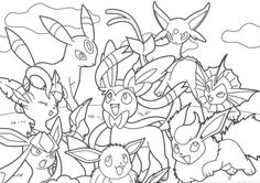 Pikachu and Eevee Friends coloring book   coloring pagessss ...