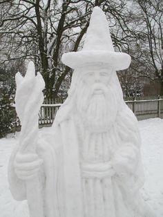 Gandalf ze śniegu - Snow Gandalf