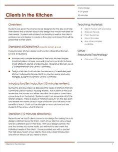Color schemes part 2 lesson plan housing interior - Housing and interior design lesson plans ...