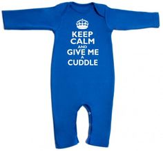 Keep Calm and give me a Cuddle Romper/T-Shirt by Jack Spratt Baby