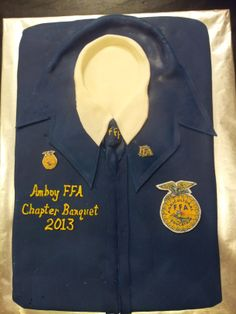 FFA banquet cake - covered in marshmallow fondant