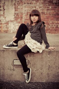 This was from my first season and a lot of fun to design. I sold out! Inspiration For Kids, Style Inspiration, Kids Fashion, Fashion Outfits, Tween Girls, Brown Dress, Classic Outfits, Kids Wear, Chuck Taylors