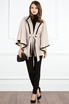 LIVIA CAPE COAT - Supremely feminine, pull on over your smartest day dress or wear over a sleek cocktail dress and exude sophisticated styling.  CLICK HERE NOW to check it out.