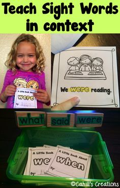 Use excerpts from Programmed Reader and Bob Books etc. to read and send home. Teaching Sight Words, Sight Word Practice, Sight Word Activities, Reading Activities, Reading Skills, Teaching Reading, Music Activities, Learning, Site Words