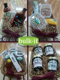 We have gift bags available now for your gift giving pleasure this holiday season!  You have 4 to choose from at $20.00 each. Read more here: http://www.bulkitfoods.com/featured/gift-bags-for-holiday-giving/ Come in this month and give the gift of delicious healthy, local foods! *GIFT CERTIFICATES ARE AVAILABLE TOO!