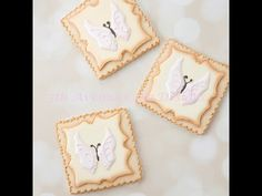 How to Decorate Butterfly Cookies with Filigree - YouTube
