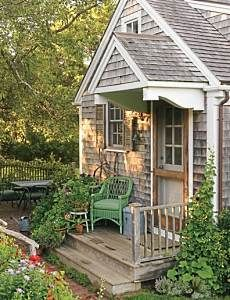 "Reminds me of a German summer home...would love to get away for the weekend and be ""off the grid"" in something this cute."