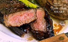Knock your socks off grilled steaks cooked to perfection with the incredible umami flavors of sweet, salty, tangy and. Though my hubby is a steak purist, a salt and pepper ONLY man, I happen to love a Grilled Steak Recipes, Marinated Steak, Grilled Meat, Grilling Recipes, Beef Recipes, Cooking Recipes, Grilled Steaks, Beef Steaks, Steak Rubs