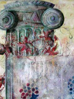 ATRIUM, peinture à l'huile et collage