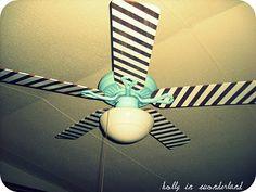 Painted Ceiling Fan ~ Holly in Wonderland