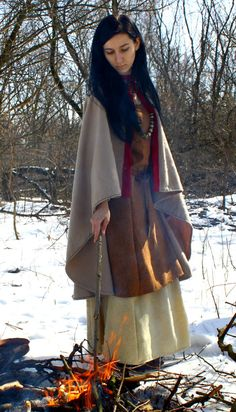 Viking cloak for woman Valkyrie medieval by SlavMedievalShop