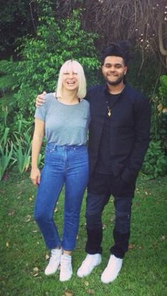 Sia and The Weeknd. Framing this picture.