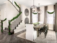 Break tradition and follow a new holiday color trend. Add a modern, minimalist twist by decorating in black, gold, white or silver. | Pulte Homes