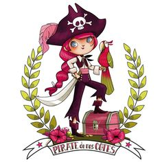 sticker Rapariga pirata (Dessin Pour Fille)