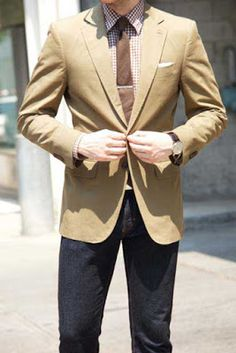 Beige blazers for men