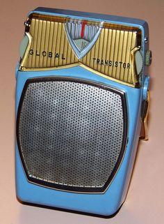Vintage Global Model Transistor Radio, Made In Japan, Circa Vintage Television, Television Set, Tv On The Radio, Tv Radio, Pocket Radio, Retro Radios, Radio Wave, Antique Radio, Transistor Radio