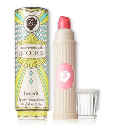 hydra-smooth lip color lipstick | Benefit Cosmetics- tutti-cutie sheer coral