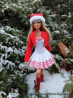 This Pattern Crochet is for Barbie dolls (also can fit Liv dolls) outfit, which include the patterns for dress, blouse and hat). This can be made to fit an other such dolls.