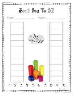 Beat You To 10! math game FREEBIE                                                                                                                                                                                 More